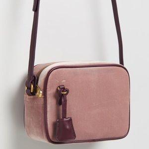 J Crew Velvet Signet Bag